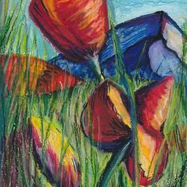 Darya Tyshlek - Poppies in the Mountaints