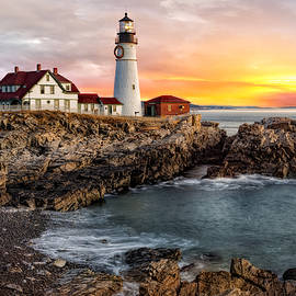 Susan Candelario - Portland Lighthouse Sunrise