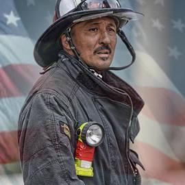 Jim Fitzpatrick - Portrait of a Fire Fighter II