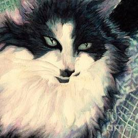 Janine Riley - Portrait of a green eyed cat