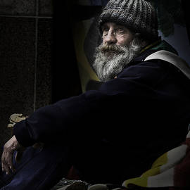 Sheila Smart - Portrait of a homeless man