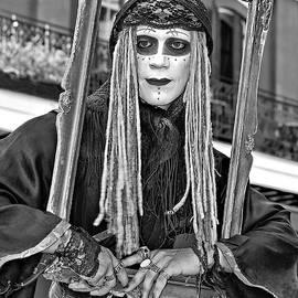 Steve Harrington - Portrait of a Mime monochrome