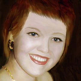 Alex Galkin - Portrait of a smiling girl with red hair
