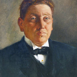 Portrait of Andrea Capparelli, professor of physiology, rector of University of Catania - Antonino Gandolfo