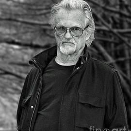 Jim Fitzpatrick - Portrait of Kris Kristofferson in a Wooded Bluff