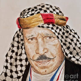Jim Fitzpatrick - Portrait of the Pro Wrestler known as the Iron Sheik