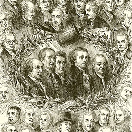 Portraits of the Signers of the Declaration of Independence - American School