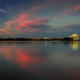Douglas Berry - Potomac River Sunset Washington DC