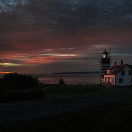 Marty Saccone - Pre Dawn Light At West Quoddy Head Lighthouse 2