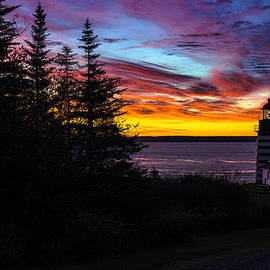 Marty Saccone - Pre Dawn Light at West Quoddy Head Lighthouse