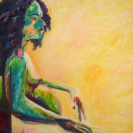 Esther Newman-Cohen - Pregnant Woman in Yellow