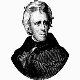 President Andrew Jackson Graphic Black and White - War Is Hell Store