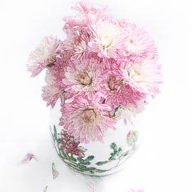 Louise Kumpf - Pretty Pink Mums Still Life