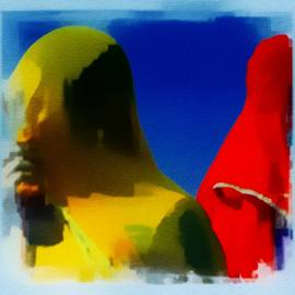 Sue Jacobi - Primary Colors Abstract Veiled Women India Rajasthan 1a
