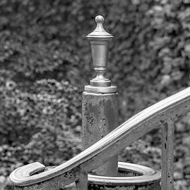 Ben and Raisa Gertsberg - Princeton Borough Post Office Handrail Finial Black And White