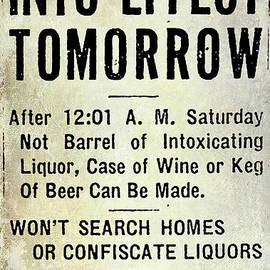 Prohibition Sign - Jon Neidert