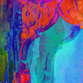 Sue Jacobi - Psychedelic Abstract Art Colorful Pink Blue Window Exotic Travel India 1b