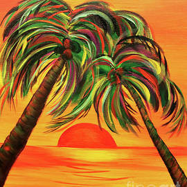 Janice Rae Pariza - Psychedelic Palm Trees
