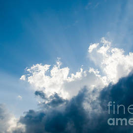 Puffy Clouds and Sunbeam Picture - Paul Velgos