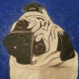 Cindi Roberts - Pug Modern Pet Portrait