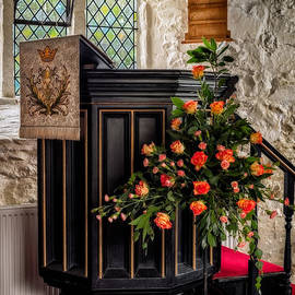 Pulpit and Flowers - Adrian Evans