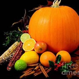 R Muirhead Art - Pumpkin Limes Lemons Corns Apples Holly Leafs