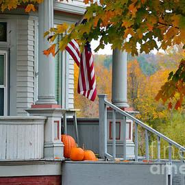 Catherine Sherman - Pumpkins on a Vermont Porch