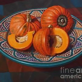 Fiona Craig - Pumpkins on Moroccan Platter