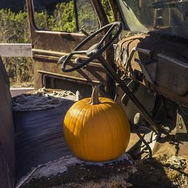Punpkin On Old Truck Seat - Garry Gay