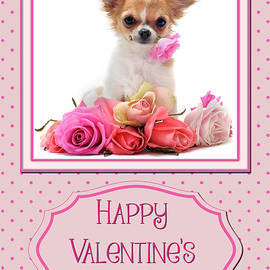 JH Designs - Puppy and Roses Valentine