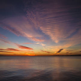 Sven Brogren - Purple and Orange lakeside dawn
