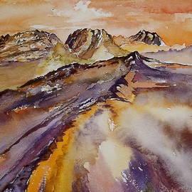 Carolyn Doe - Purple Mountains In Orange Sky