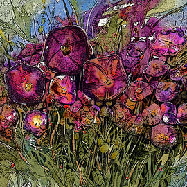 Shirley Sykes Bracken - Purple Petunias