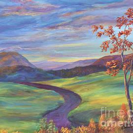 Malanda Warner - Purple Road - Autumn Sunset
