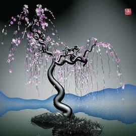 GuoJun Pan - Purple tree in water 2