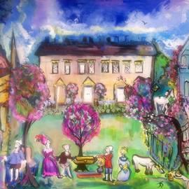 Judith Desrosiers -  Quaint Picnic on the lawn