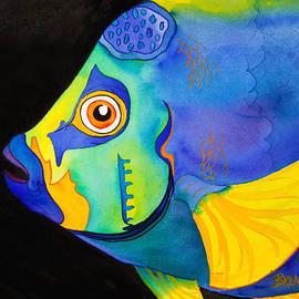 Brenda Tucker - Queen Angelfish on Black