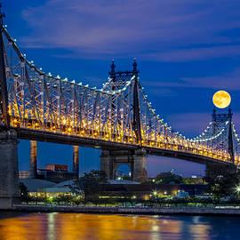Susan Candelario - Queensboro Ed Koch Bridge Full Moon