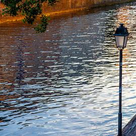 W Chris Fooshee - Quiet river at sunset