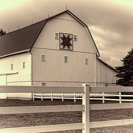 William Sturgell - Quilt Barn on Route 54 in Sepia.