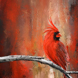 Lourry Legarde - Radiance In Red - Northern Cardinal Art
