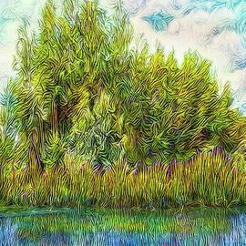 Joel Bruce Wallach - Radiant Lake Sunset