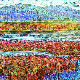 Joel Bruce Wallach - Radiant Twilight Pond - Colorado Lake With Mountains