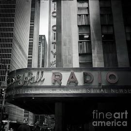 Miriam Danar - Radio Daze - Radio City Music Hall New York - Black and White Large