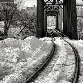 Olivier Le Queinec - Railroad Bridge in Winter