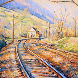 Dusan Balara - Railway Station - Spring Colors