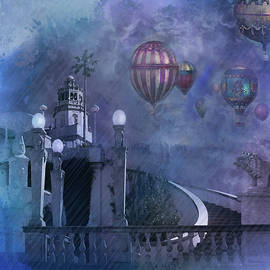 Jeff Burgess - Rain and balloons at Hearst Castle