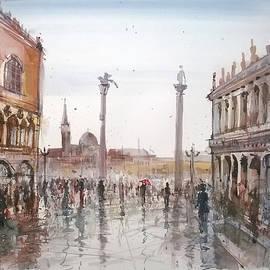 Lorand Sipos - Rain in Venice- Palazzo Ducale