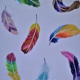 Olga Zavgorodnya - Rainbow Feathers