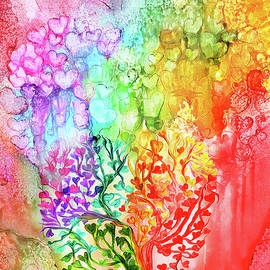 Carol Cavalaris - Rainbow Heart Tree